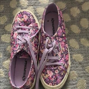 Purple Floral Superga Sneakers